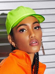 Transparent Neon Yellow Baseball Cap