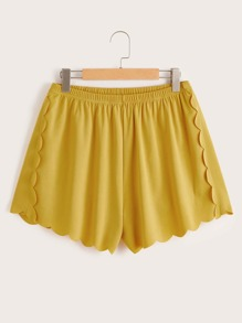 Plus Scallop Trim Shorts