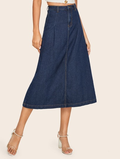 d004c14f16 Denim Skirts | Denim Skirts Online | SHEIN