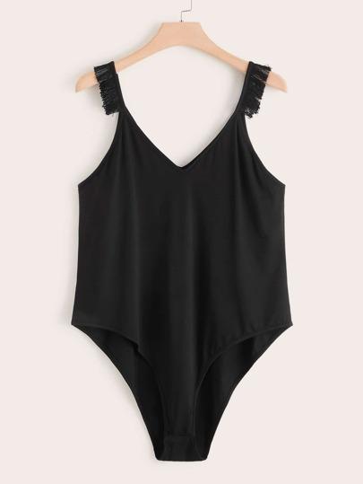 3b71a4c3ba Plus Size Bodysuits, Shop Plus Size Bodysuits Online | SHEIN UK