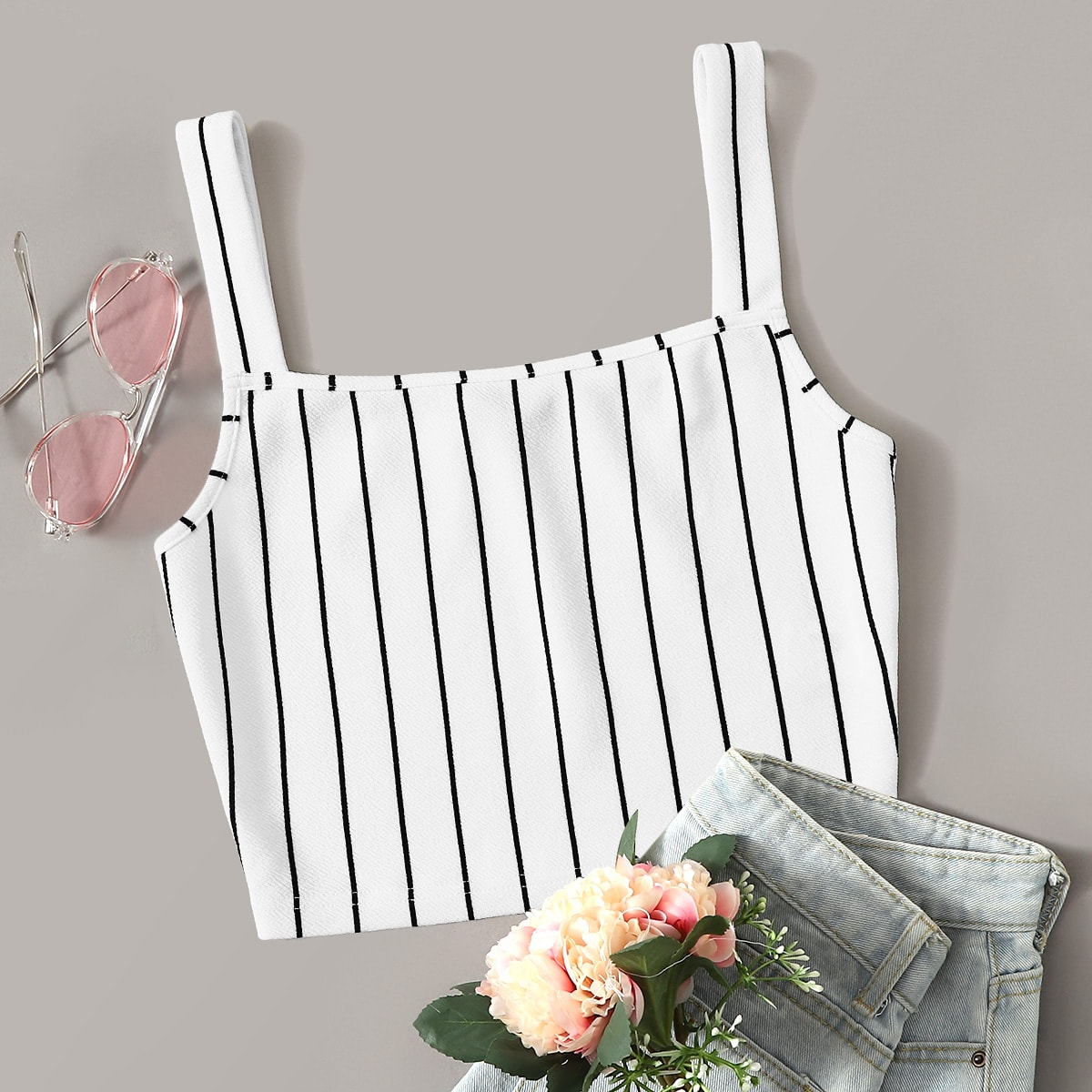 SHEIN coupon: Striped Textured Top