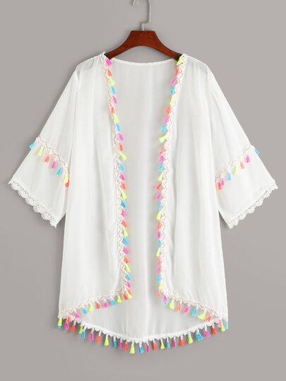5de1dcbc499c6e Kimono mit Fransen
