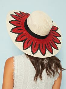 Flower Design Floppy Hat