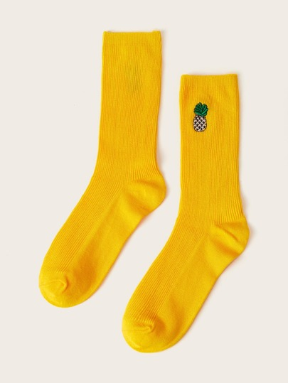 Guys Pineapple Pattern Socks 1pair