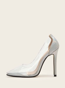 Point Toe Clear Stiletto Heels