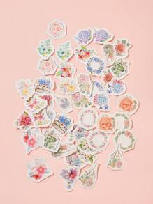Flower Print Sticker 46pcs