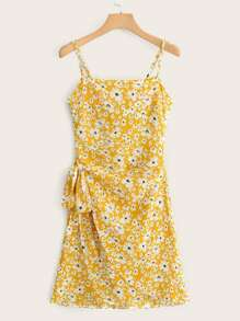 Ditsy Floral Tie Back Wrap Sundress