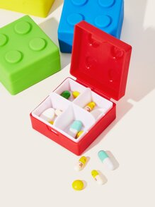 Square 4 Grid Pill Storage Box 1pc