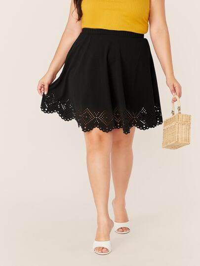 364b80b842 Plus Size Skirts, Shop Plus Size Skirts Online | SHEIN IN
