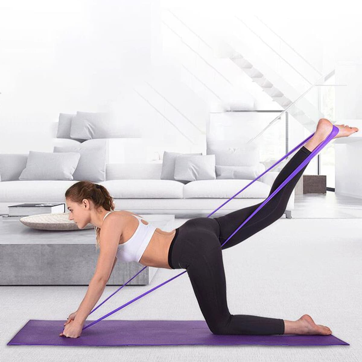 SHEIN coupon: Yoga Elastic Loop Resistance Band 1pc