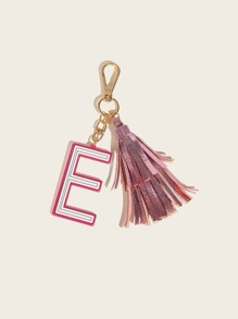 Letter & Tassel Pendant Bag Accessory