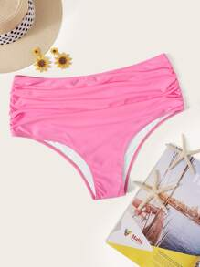 Plus Ruched High Waist Swimming Panty