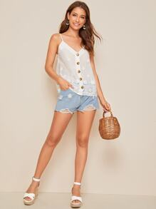 Button Up Schiffy Cami Top