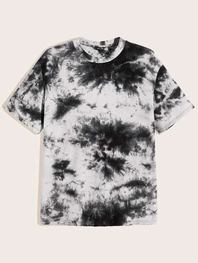 Guys Rib-knit Tie Dye Top