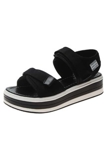 Velcro Strap Chunky Sole Sandals