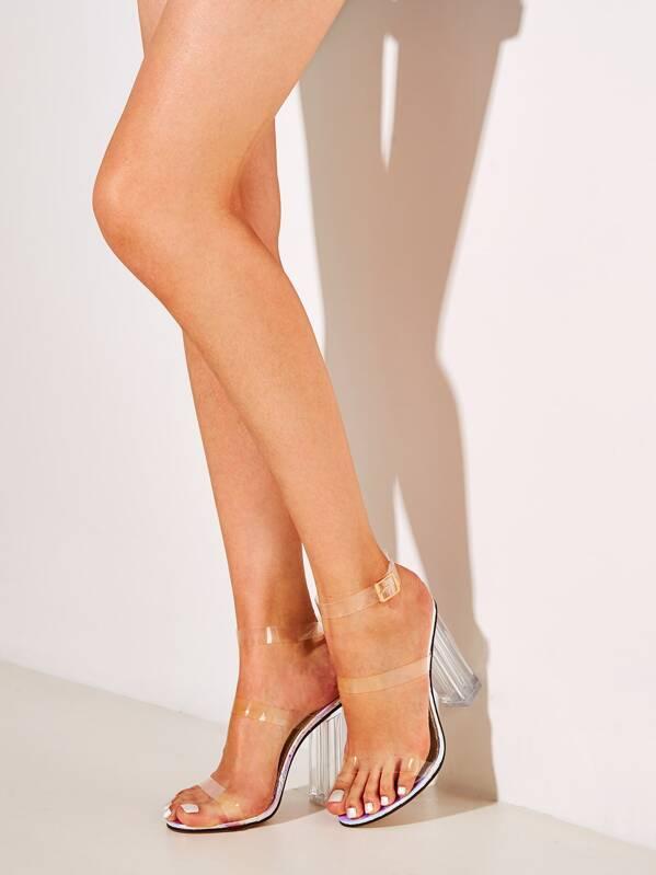 À Talons À Épais Chaussures Transparentes Épais Talons Transparentes Chaussures LqcA4j3R5