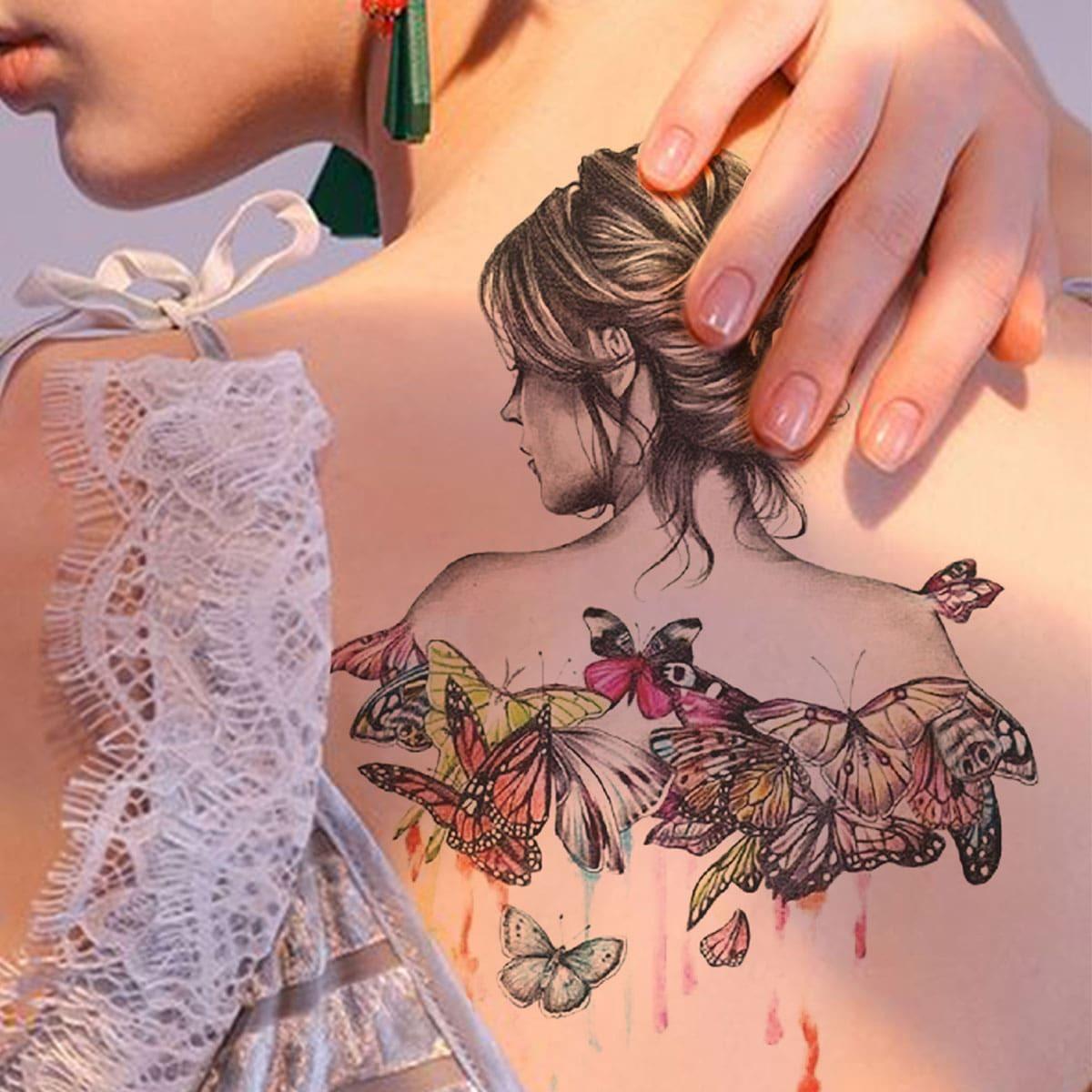 Autocollant de tatouage avec imprimé figure 1 feuille