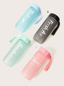 Portable Letter Print Scrub Water Cup 1pc