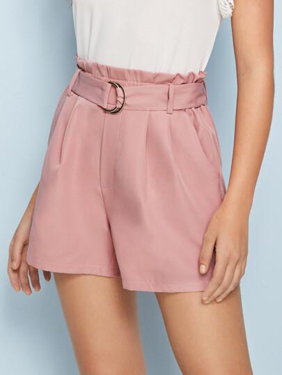 878e82eecb Shorts pour femmes | Taille Haute, en lin, mini Shorts | SHEIN