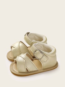Baby Girls Cross Strap Buckle Sandals