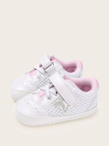 Baby Girls Star Patch Mesh Sneakers