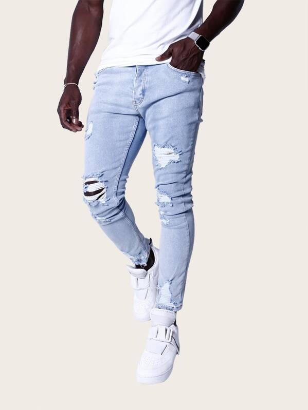 2a8071e704 Men Ripped Skinny Jeans