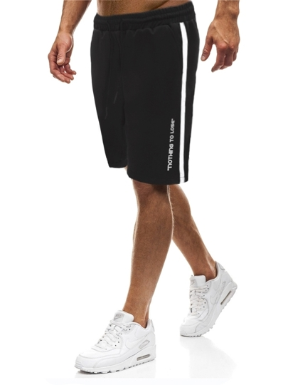 Men Letter Graphic Drawstring Track Shorts