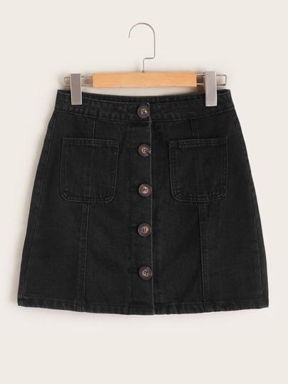 Denim Skirts, Shop Denim Skirts Online | SHEIN IN