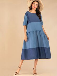 Colorblock Longline Dress