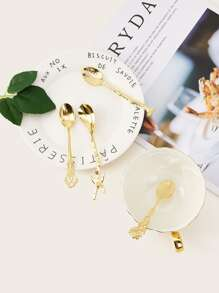 Flower Design Spoon Set 4pcs