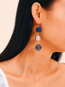 Triple Disco Ball Earring 1pair