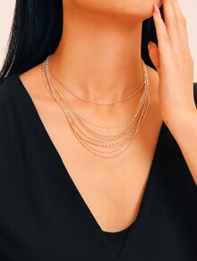 Multi-Strand Chain Necklace 1pc