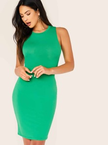 Solid Bodycon Tank Dress