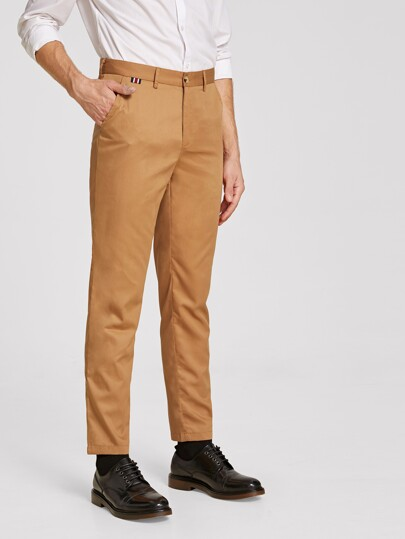 Guys Button & Zipper Fly Straight Leg Pants