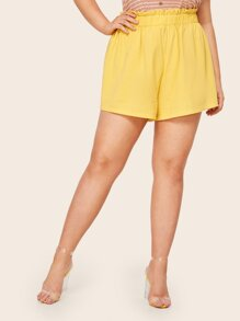 Plus Frill Trim Shorts