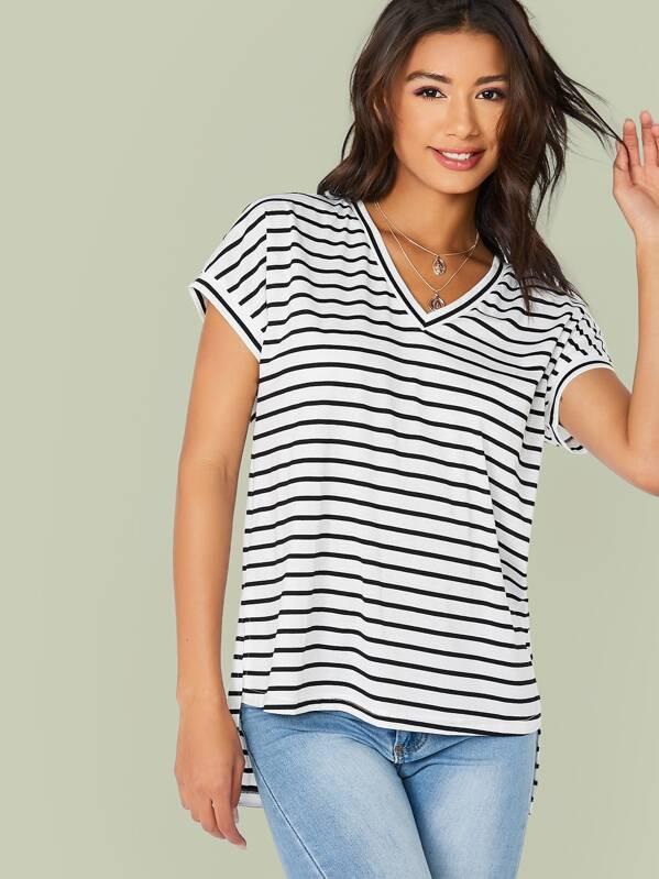 d9859c0b7e Short Sleeve Striped Top