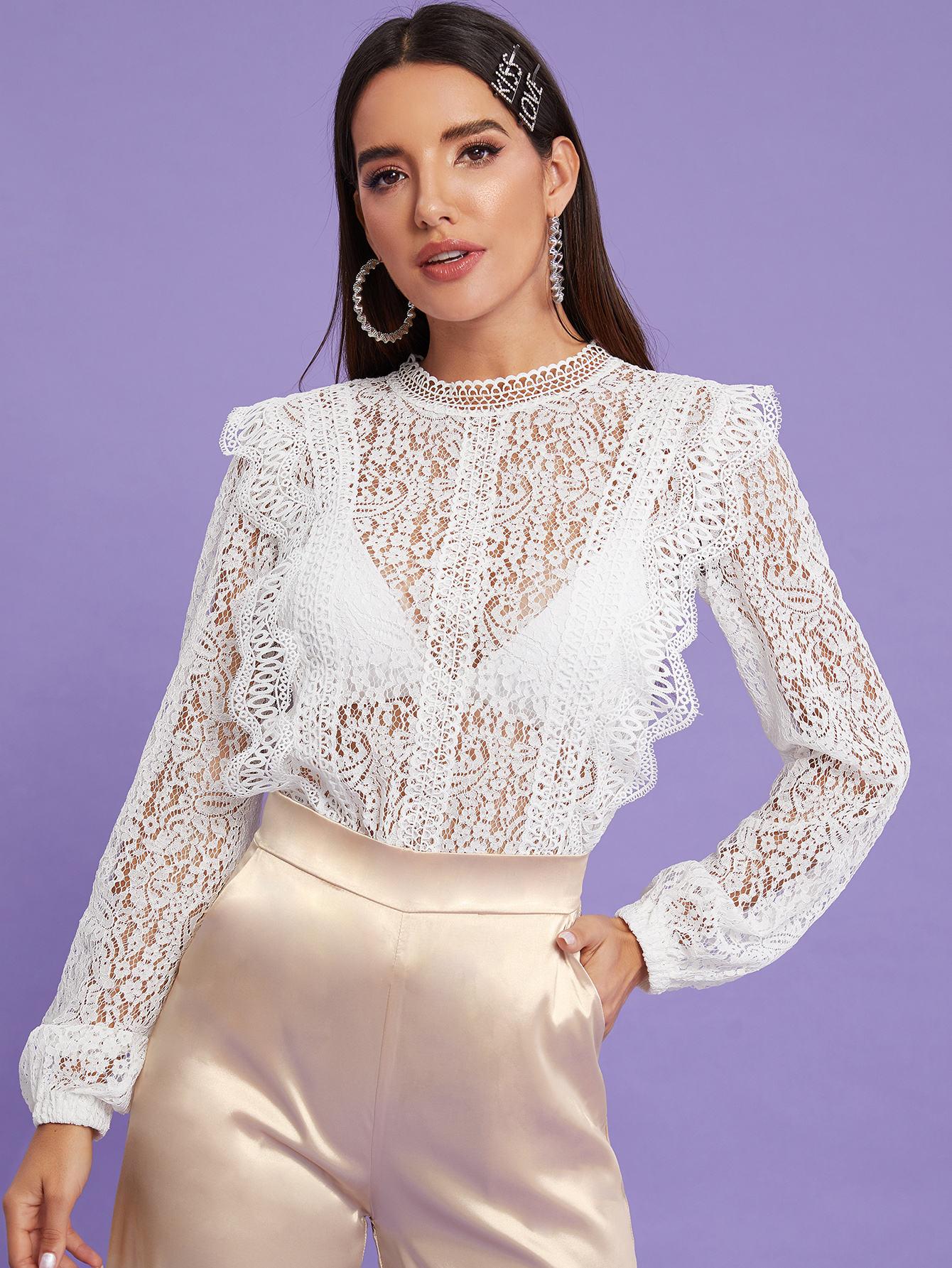 блузка кружевная белая фото компания заповедный