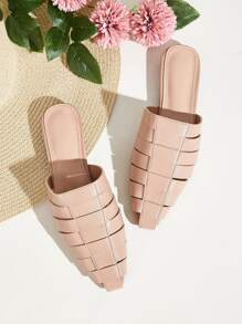 Cut Out Strappy Flat Sliders