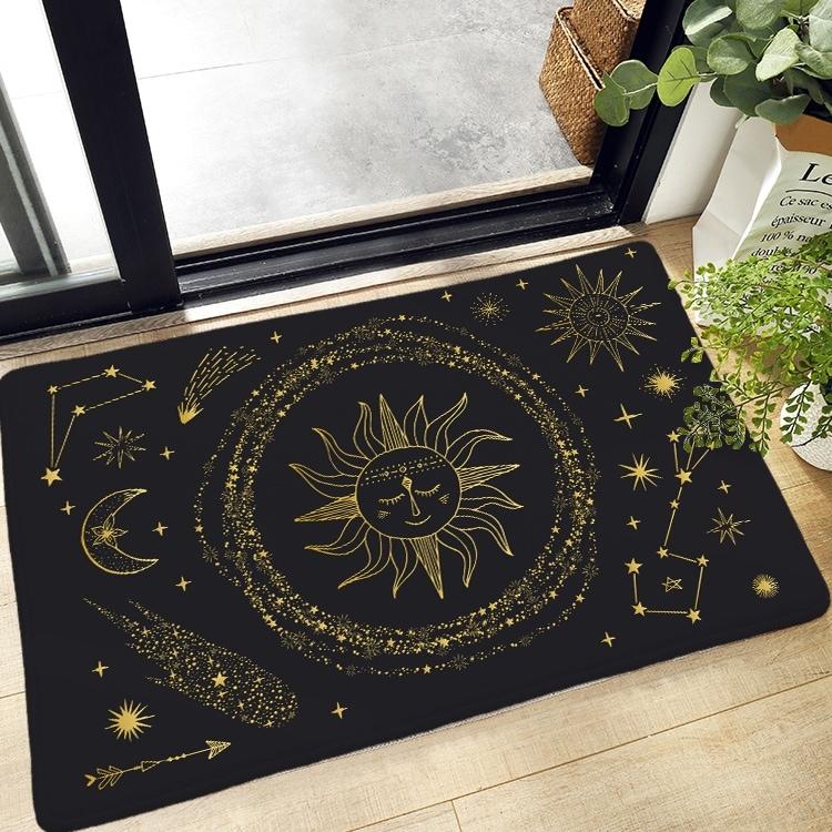 Bodenmatte mit Sonne & Mond Muster