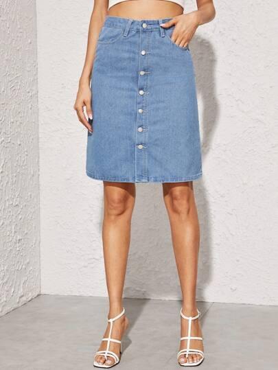 b15eb5e19c Denim Skirts | Denim Skirts Online | SHEIN