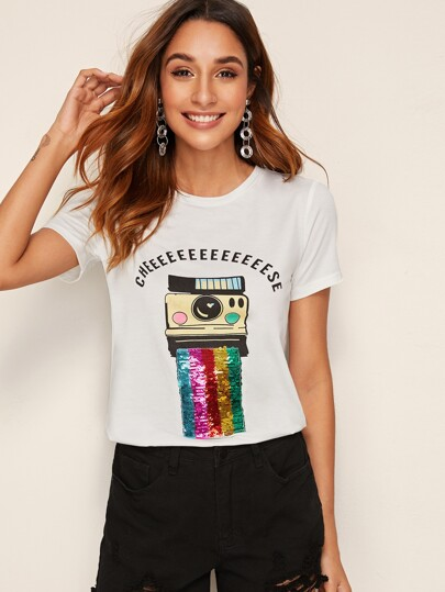 aa0919065f25 T-shirts & Tees | Stylish T-Shirts for Women | Best Selling Tops | ROMWE