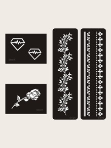 Floral Pattern Tattoo Sticker 4sheets