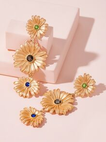 Daisy Drop Earrings 1pair