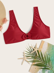 Plus Ring Linked Swimming Top