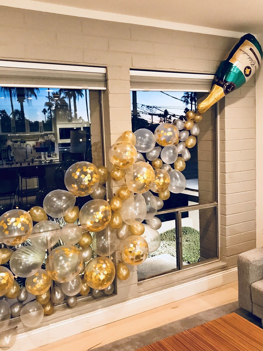 Katy Perry's Picks- Champagne Bottle Balloon 1pc & Decorative Balloon Set 25 pcs! HOW CUTE IS THIS? ONLY !