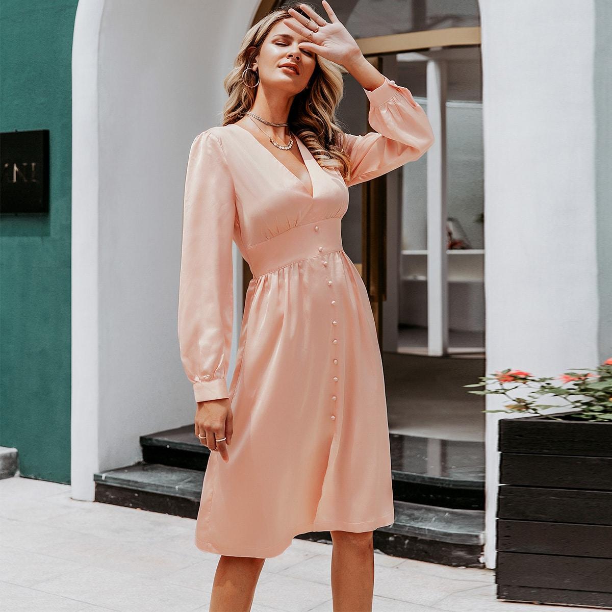 Simplee Kleid mit Knöpfen