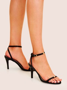 Two Part Ankle Strap Stiletto Heels