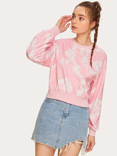 Tie Dye Drop Shoulder Sweatshirt