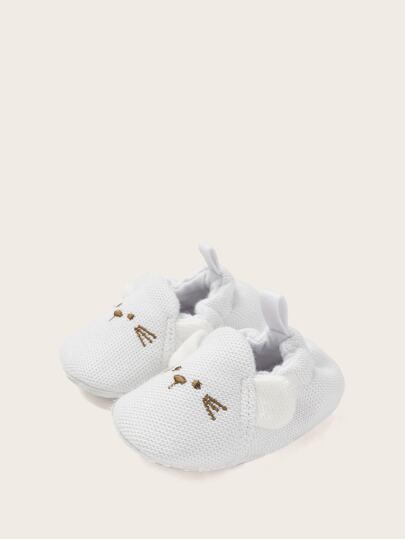 8a7c547eab Zapatillas slip on de bebé niña con bordado de gato