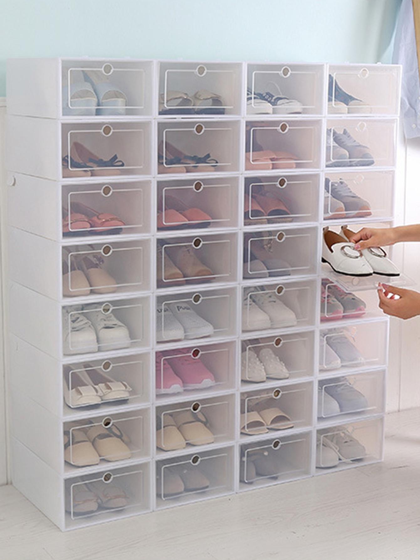 Boîte de rangement rectangulaire pour chaussures 1 pièce | ROMWE